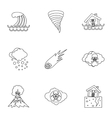 Natural emergency icons set outline style vector image vector image