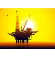 oil rig and Sunrise vector image vector image