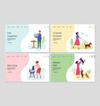 pets landing pages people caring about animals vector image vector image