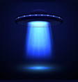 realistic detailed aliens spaceship or ufo vector image vector image