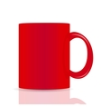 red cup isolated on white background vector image vector image