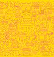 retro line seamless pattern vector image vector image