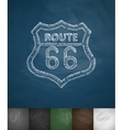 route 66 icon Hand drawn vector image