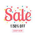 sale up to 50 off shop now colorful ribbon backgr vector image vector image