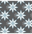 Seamless Pattern Blue Flowers On Gray vector image