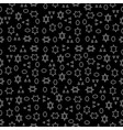 seamless pattern of geometric shapes on a dark bac vector image