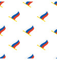 seamless pattern with flags russia vector image