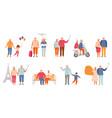 set active lifestyle seniors elderly people vector image