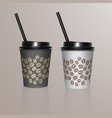 set of coffee cup - mockup template for cafe vector image vector image
