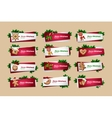 Set of New Year banners vector image vector image