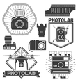 set of photography and logo templates vector image