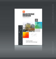 simple style brochure flyer promotion vector image