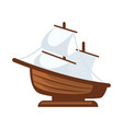 small sailboat figurine vector image vector image