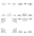 spiderweb frame border divider isolated on white vector image