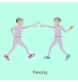 Sport people activities icon Fencing vector image