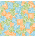 Squares with spiral seamless pattern vector image