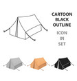 tent icon in cartoon style isolated on white vector image vector image