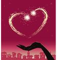valentine fireworks vector image vector image