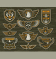 vintage armed forces insignias and badges
