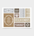 vintage design elements composition vector image vector image