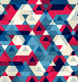 vintage triangle seamless pattern vector image vector image