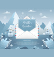 winter season with email vector image