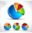 3d pie diagram for infographic or percentage data vector image