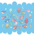 Sea inhabitants vector image