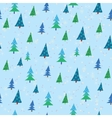 pattern with Christmas trees vector image