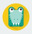 Crocodile Baby Animal Icon vector image