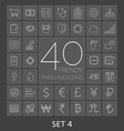 40 Trendy Thin Line Icons for Web and Mobile Set 4 vector image