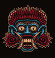 a traditional indonesian mask barong vector image vector image