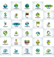 abstract business logo collection vector image vector image