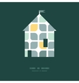 abstract gray yellow rounded squares house vector image vector image