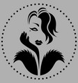 abstract monochrome vintage glamour lady vector image vector image