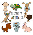 australian animals colorful on vector image