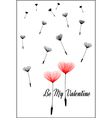 Be My Valentine valentines day card vector image vector image