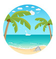 beach summer background vector image vector image