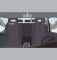 black salon car interior vehicle for trip vector image