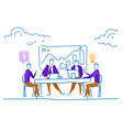 businessmen office table conference financial vector image vector image