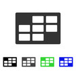 calendar table flat icon vector image vector image