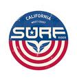California west coast surfers Pacific Ocean team vector image vector image