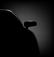 Car silhouette on a black background vector image