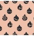 Christmas decoration balls pattern on beige vector image vector image