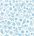 Christmas season seamless pattern vector image
