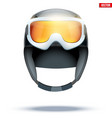 classic ski helmet with snowboard goggles vector image