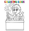 coloring book school subject 1 vector image