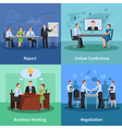 Conference Concept Icons Set vector image vector image