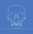 continuous one line human skull concept vector image vector image