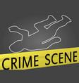 crime scene vector image vector image